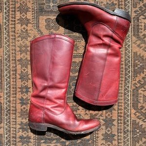 Frye Leather Rider Pull On Boots